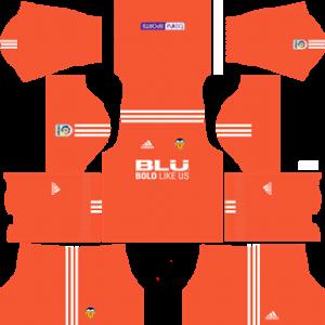 valencia cf dls goalkeeper home kit 2017-2018