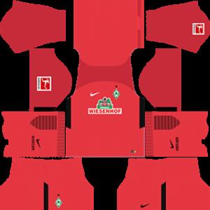 werder bremen DLS goal keeper away kits 2017-2018