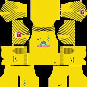 werder bremen goalkeeper DLS home kits 2017-2018