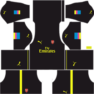 Arsenal dls goalkeeper home kit 2016-2017