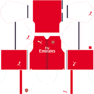 Arsenal dls home kit 2016-2017