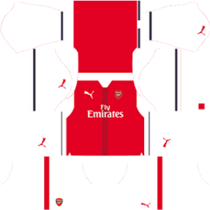 Arsenal dls home kit 2016-2017 (white)