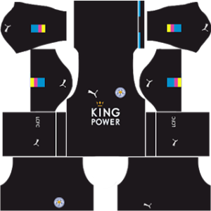 Leicester city dls goalkeeper home kit 2016-2017