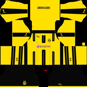 borussia dortmund dls home 2 Kit 2016-2017