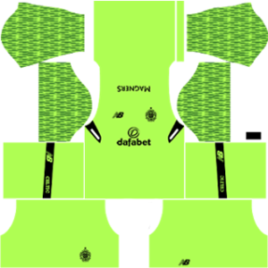 celtic fc dls goalkeeper home kit 2017-2018