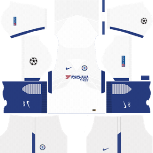 chelsea fc nike ucl away kit 2017-2018