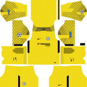 chelsea fc nike ucl goalkeeper away kit 2017-2018