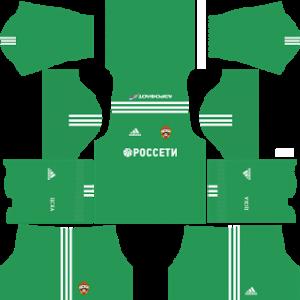 cska moscow kit dls goalkeeper home 2017-2018