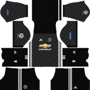 manchester united UCL dls away kit 2017-2018