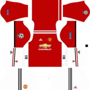 manchester united UCL dls home kit 2017-2018