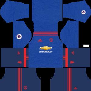 manchester united dls away kit 2016-2017