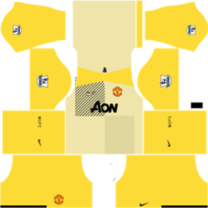 manchester united dls goalkeeper away kit 2013-2014