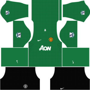 manchester united dls goalkeeper home kit 2012-2013