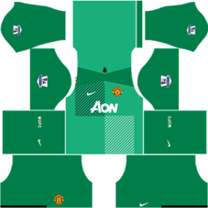 manchester united dls goalkeeper home kit 2013-2014