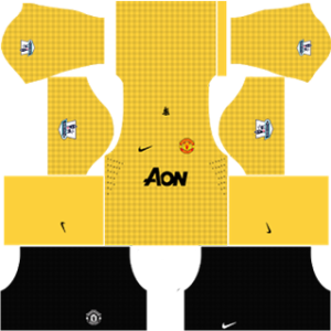 manchester united dls goalkeeper third kit 2012-2013