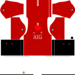 manchester united dls home kit 2008-2009