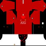 Manchester United Kits 2008/2009 Dream League Soccer