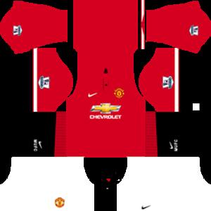manchester united dls home kit 2014-2015