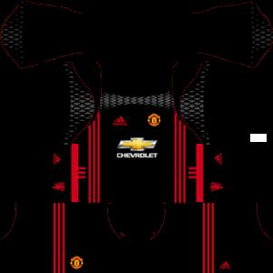 manchester united goalkeeper dls home kit 2016-2017