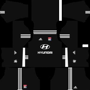 olympique lyon adidas dls goalkeeper home kit 2017-2018