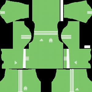 olympique marseille adidas dls goalkeeper home kit 2017-2018