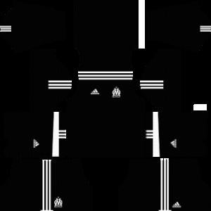 olympique marseille adidas dls goalkeeper third kit 2017-2018