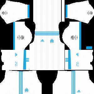 olympique marseille adidas dls home kit 2017-2018