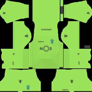 sporting cp dls goalkeeper away kit 2017-2018