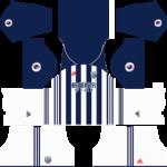 west bromwich albion adidas dls home kit 2017-2018