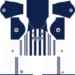 west bromwich albion adidas dls home kit 2017-2018