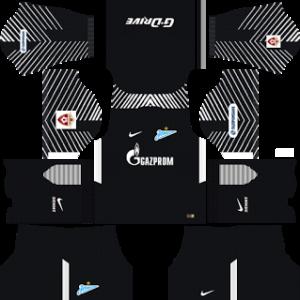 zenit st petersburg nike dls goalkeepr away kit 2017-2018