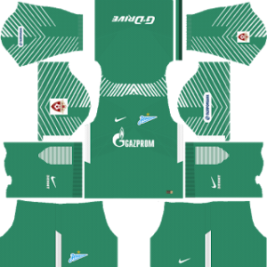 zenit st petersburg nike dls goalkeepr home kit 2017-2018