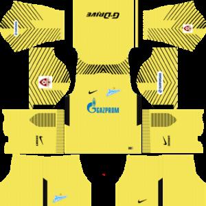 zenit st petersburg nike dls goalkeepr third kit 2017-2018