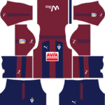 SD Eibar Kits 2017/2018 Dream League Soccer