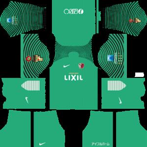 kashima antlers goalkeeper away kit 2017-2018 dream league soccer