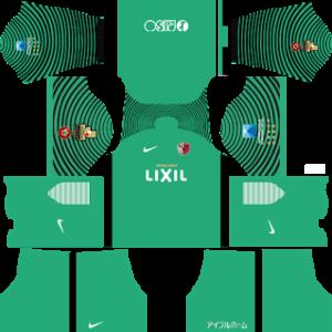 kashima antlers nike dls goalkeeper away kit 2016-2017