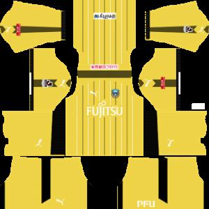 kawasaki frontale ACL dls goalkeeper away kit 2016-2017