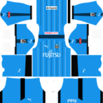 kawasaki frontale ACL dls home kit 2016-2017 (Blue)