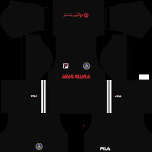 pahang fila dls goalkeeper home kit 2017-2018