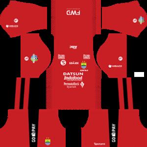 persib bandung fc dls goalkeeper home kit 2017-2018