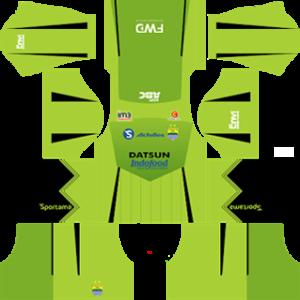 persib fc dls goalkeeper away kit 2016-2017