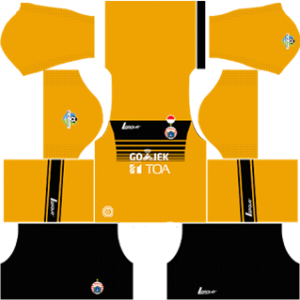persija jakarta dls goalkeeper away kit 2017-2018