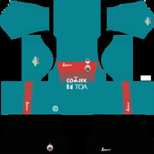 persija jakarta dls goalkeeper home kit 2017-2018