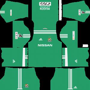 yokohama marinos goalkeeper home kit 2017-2018 dream league soccer