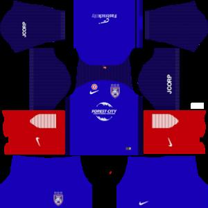 Johor Darul Takzim Dream League Soccer Kits 2017/2018