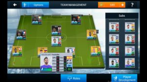 Select a player dream league soccer