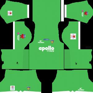chennaiyin fc dls goalkeepr home kit 2017-2018
