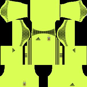Argentina Goalkeeper Home Kit 2015-2016