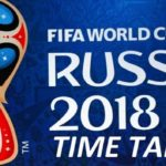 FIFA World Cup 2018 Schedule Pacific Time