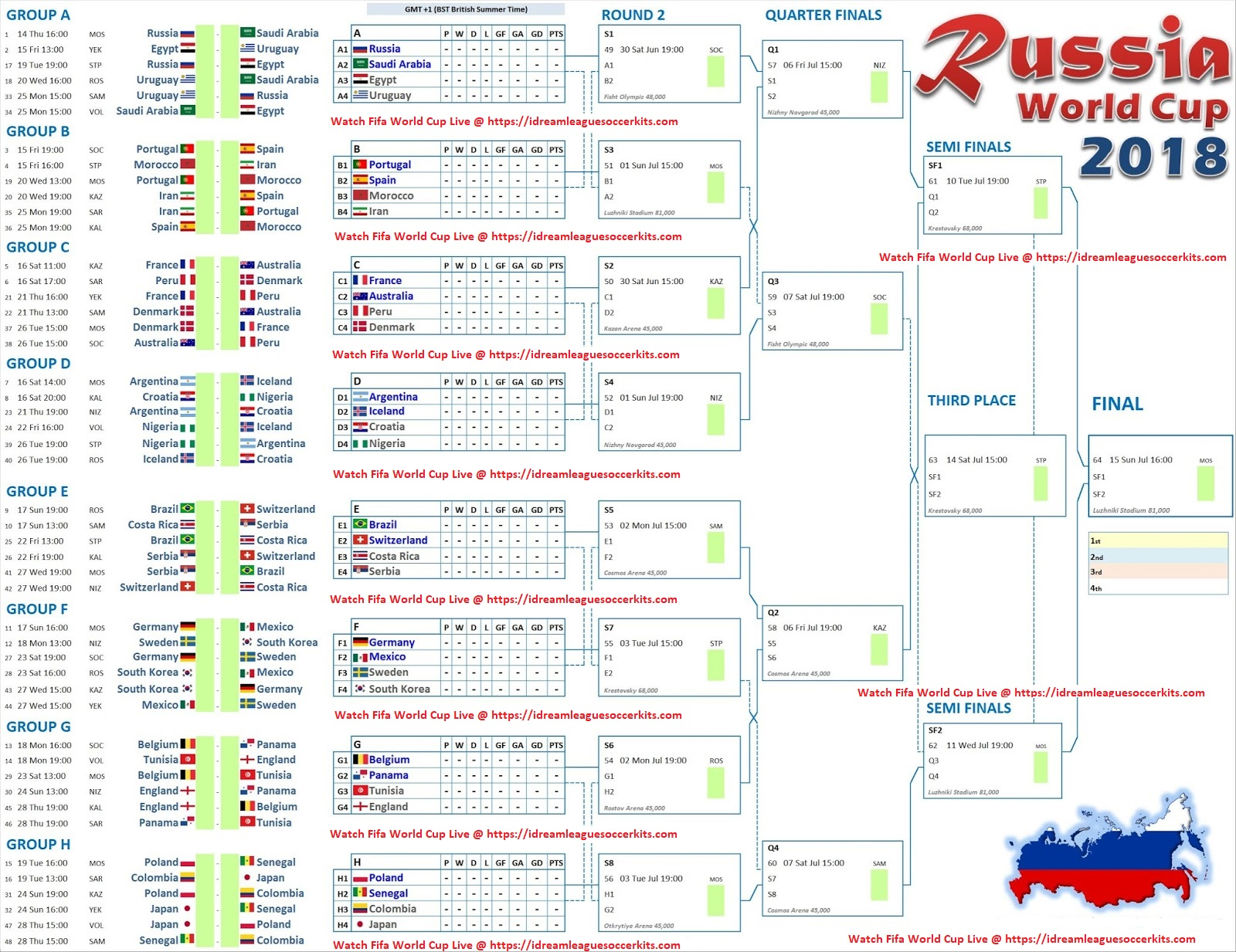 Fifa World Cup  Schedule Pdf